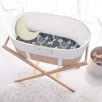 cradle made of cotton banana leaves fabric