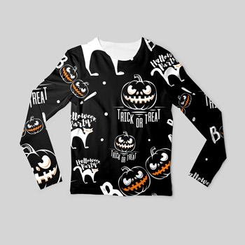 long sleeve made of halloween fabric