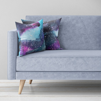 cotton galaxy fabric pillows