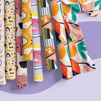 Sew and Send Fabric Design