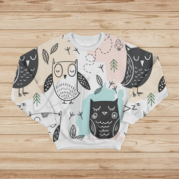 sweatshirt made of owls fabric