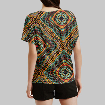 t-shirt printed with african design pattern