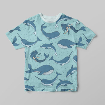mermaid printed t-shirt