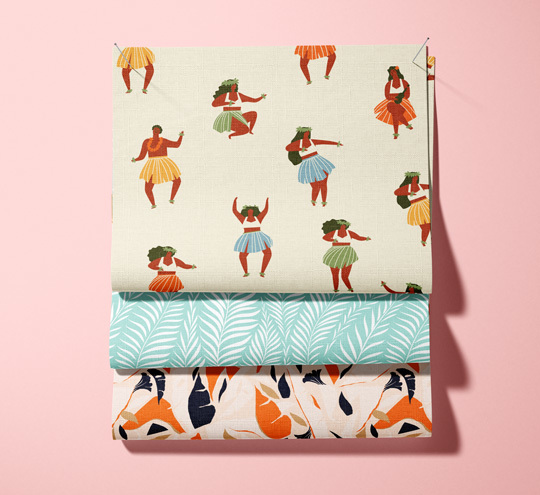 Hawaii design fabric