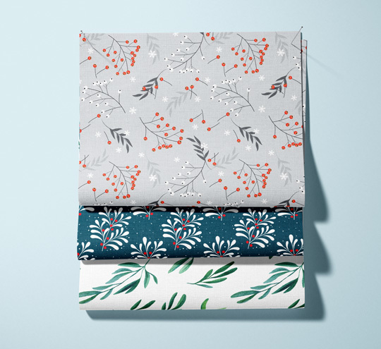 Mistletoe design fabric