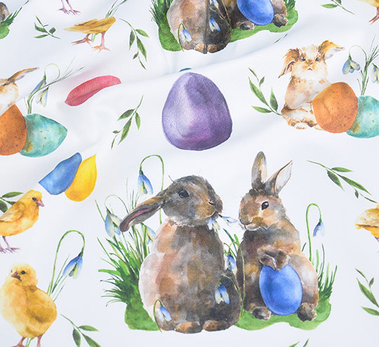 Easter bunny2 design fabric