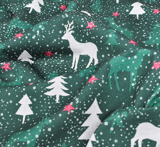 Reindeer design fabric