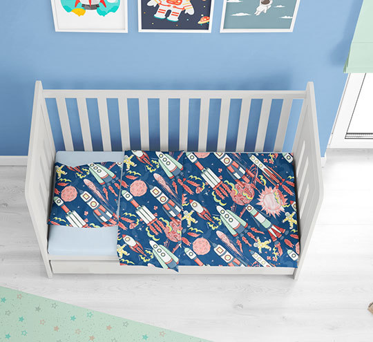Bedlinen boys cosmos fabric