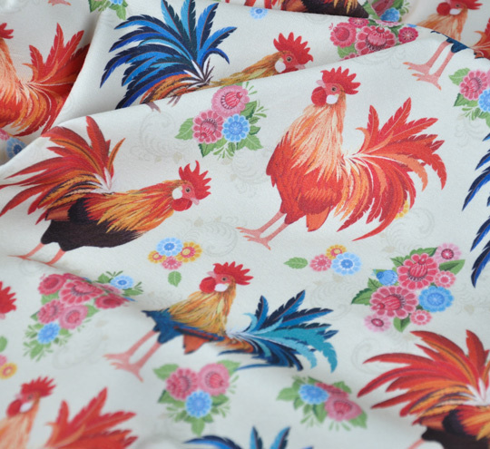 Birds design fabric