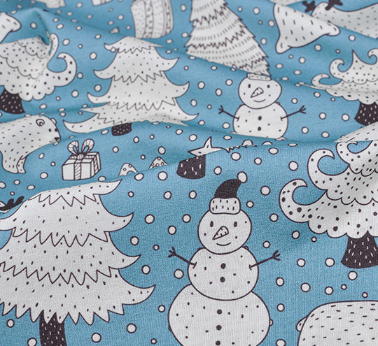 Snow design fabric