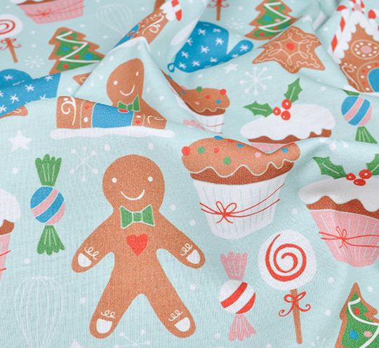 Gingerbread design fabric